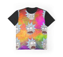 Trippy Psychedelic Rick Sanchez Expressions Graphic T-Shirt