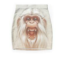 The White Angry Monkey Mini Skirt