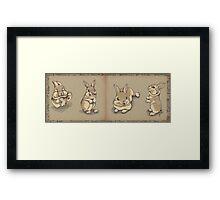 Bunny sketch Framed Print