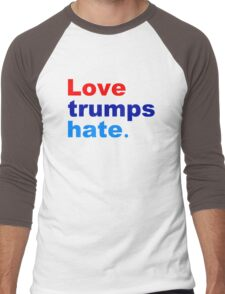 love trumps hate Men's Baseball ¾ T-Shirt