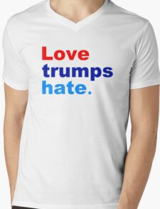 love trumps hate Mens V-Neck T-Shirt