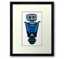 RRDDD Blue Robot Framed Print