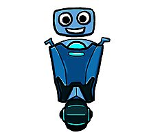 RRDDD Blue Robot Photographic Print