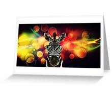Zebra Bokeh Art Greeting Card