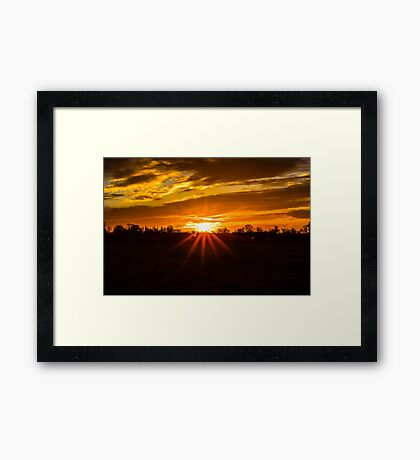 A Field With A View Framed Print