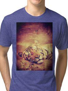Vintage Tiger Tri-blend T-Shirt