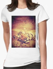 Vintage Tiger Womens Fitted T-Shirt