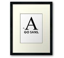 Fonts - Go Sans Framed Print