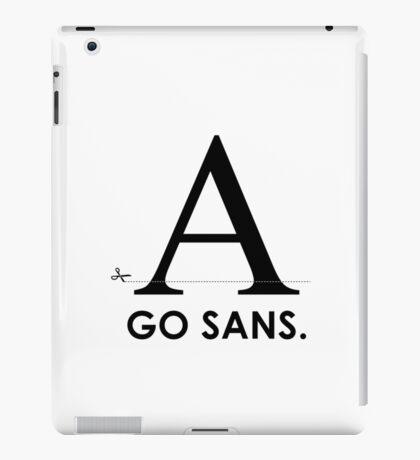 Fonts - Go Sans iPad Case/Skin