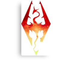Skyrim Logo - Red Gradient Canvas Print