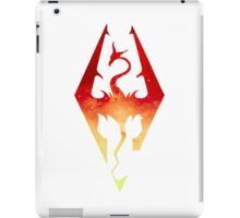 Skyrim Logo - Red Gradient iPad Case/Skin