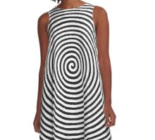 Spiral - Optical Illusion Op Art A-Line Dress