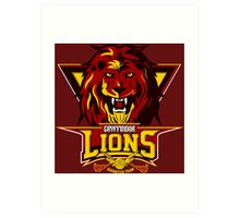 Gryffindor Lions Art Print