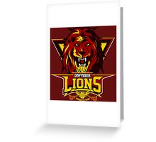 Gryffindor Lions Greeting Card