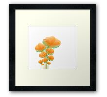 Cool Orange Flowers Framed Print