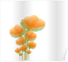 Cool Orange Flowers Poster