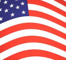 AMERICAN FLUTTER, American Flag, Fly the Flag, Flutter, Stars & Stripes, USA Sticker