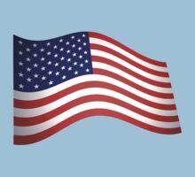 AMERICAN FLUTTER, American Flag, Fly the Flag, Flutter, Stars & Stripes, USA Kids Tee