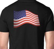 AMERICAN FLUTTER, American Flag, Fly the Flag, Flutter, Stars & Stripes, USA Unisex T-Shirt