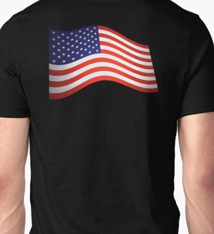 AMERICAN FLAG, FLUTTER, Stars & Stripes, Fly the Flag, USA Unisex T-Shirt
