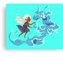 Aqua Water Creature Canvas Print