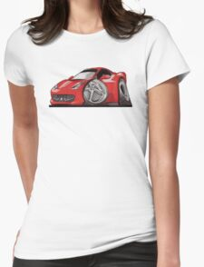 Ferrari 458 Caricature Womens Fitted T-Shirt