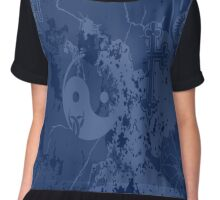 Organic Religion (blue) by Cal-and-Ra Chiffon Top