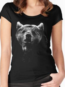 bear black shirt Women's Fitted Scoop T-Shirt