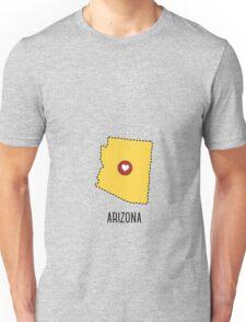Arizona State Heart Unisex T-Shirt