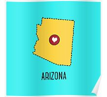 Arizona State Heart Poster