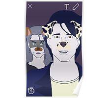 Baphomet Snapchat Print- Filter Version Poster