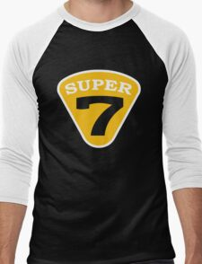 SUPER 7 Badge Cutout Number Men's Baseball ¾ T-Shirt