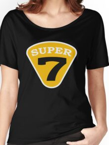 SUPER 7 Badge Cutout Number Women's Relaxed Fit T-Shirt