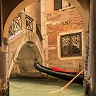 Venice gondola through the arch by Patricia Jacobs DPAGB LRPS BPE4