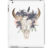 Watercolor skull in flowers iPad Case/Skin