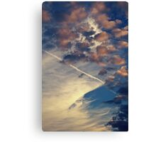 Blue and Pink Clouds Canvas Print