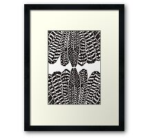 Tribal Feathers  Black Framed Print