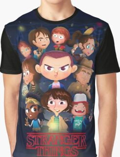 Stranger Things Cartoon Graphic T-Shirt