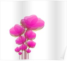 Pinky Flowers Poster