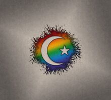 LGBT Muslim Star and Crescent by LiveLoudGraphic