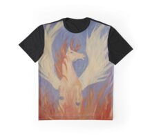 Pegasus as a Phoenix Painting Graphic T-Shirt