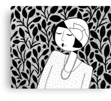 ramona lost in thought Canvas Print