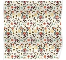 Wired Flower Pattern Poster