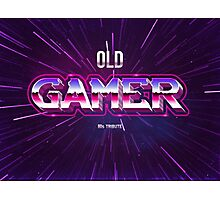 old gamer 80s tribute arcade game Photographic Print
