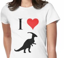 I Love Dinosaurs - Parasaurolophus Womens Fitted T-Shirt