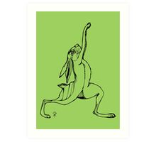 Yogi Hare Warrior Pose Art Print