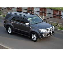 grey colored toyota fortuner Photographic Print