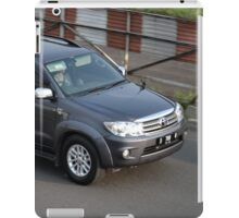 grey colored toyota fortuner iPad Case/Skin
