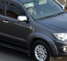 grey colored toyota fortuner Sticker