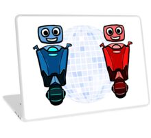 RRDDD Red and Blue Disco Laptop Skin